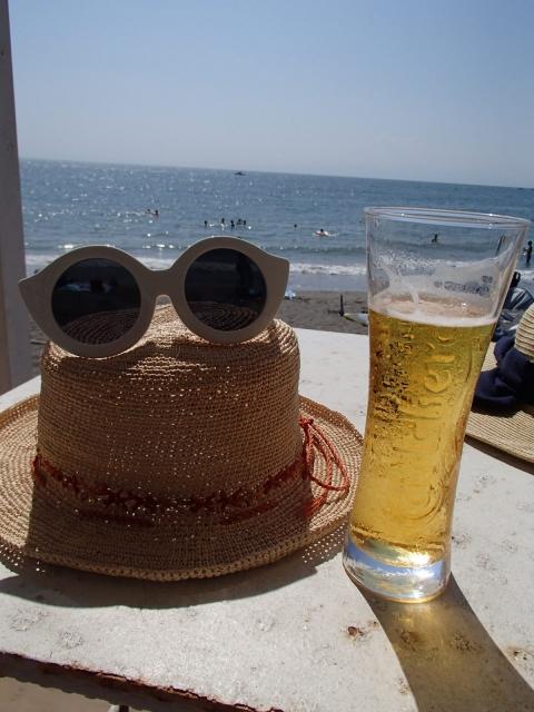 海辺のビール