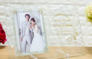 WeddingガラスフォトフレームDFS-1-w